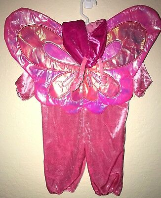 baby girl PINK BUTTERFLY HALLOWEEN COSTUME 1 PC SHINY WINGS 3/6 month MINI WEAR  - 6 Month Girl Halloween Costumes