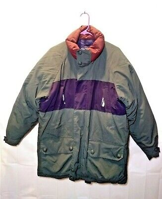 VINTAGE NAUTICA DUCK DOWN COLOR BLOCK JACKET COAT MEN'S SIZE M