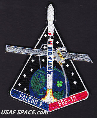 New Ses 12   Spacex Original Falcon 9 F 9 Ccafs Launch Satellite Mission Patch