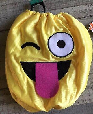 Emoji Silly Face Dog Costume Medium Nwt
