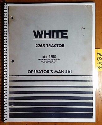 Cockshutt Oliver White 2255 Tractor Owners Operators Manual 432 398 574
