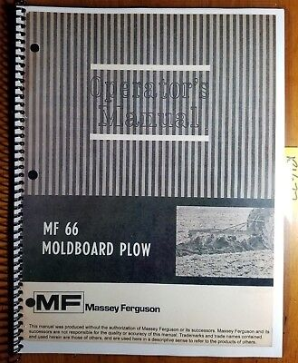 Massey Ferguson Mf 66 Mounted Moldboard Plow Owner Operators Manual 690 398 M6