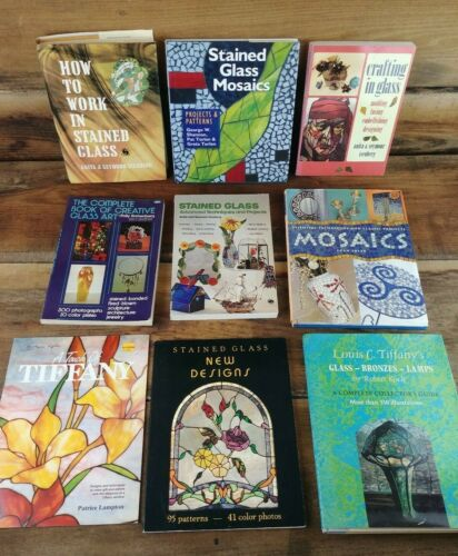 Stained Glass Technique and Design Books Lot of 9 Educational Instruction Mix