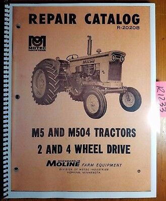 Minneapolis-moline M5 M504 2wd 4wd Tractor Repair Parts Catalog Manual R-2020b