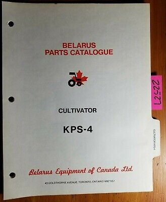 Belarus Kps-4 Cultivator Parts Catalog Manual 482