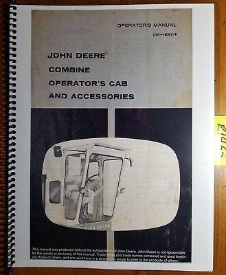 John Deere 45 55 95 105 Combine Cab Accessories Operator Manual Om-h65114 G7