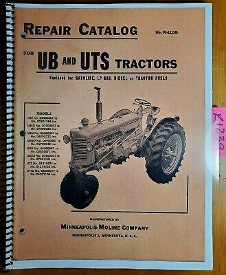 Minneapolis-moline Ub Ube Ubed Ubn Ubnd Ubu Ubud Uts Utsd Tractor Parts Manual