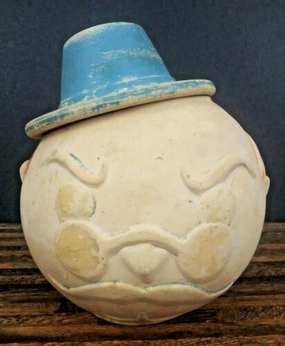 Vintage AMERICAN BISQUE Teddy Roosevelt Cookie Jar Hand Painted Ceramic Bisque
