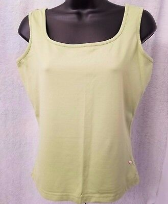 - Crossroads Womens Green Pink Flower Tank Top Shirt Blouse Size S