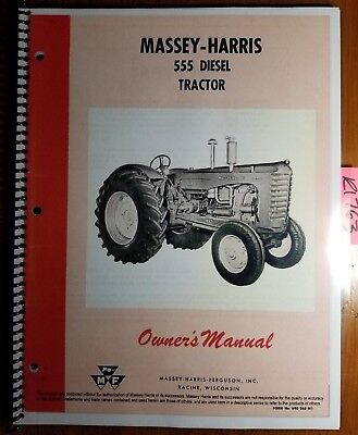 Massey Harris 555 Gklp Diesel Ape Pump Tractor Owner Operator Manual 690263m1