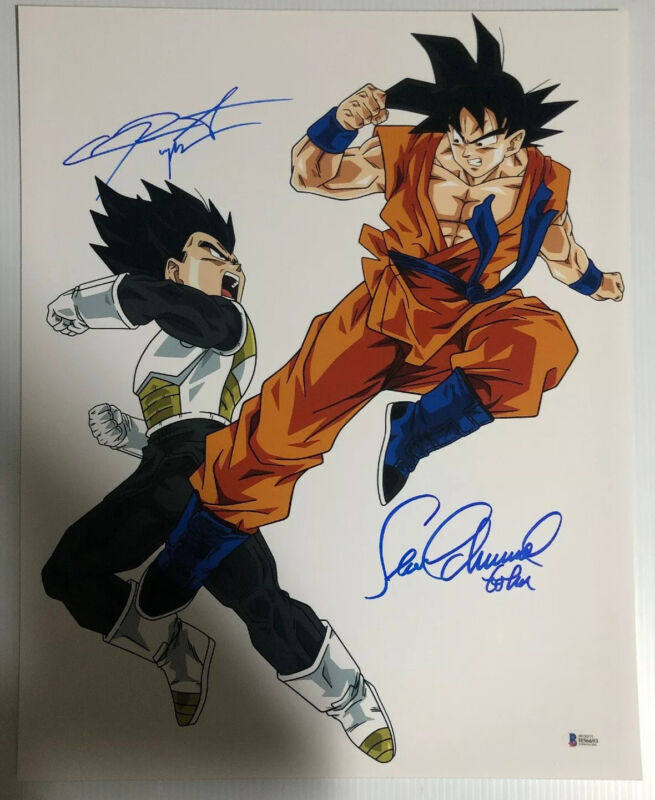 Sean Schemmel Chris Sabat Signed Autographed 16x20 Photo Dragon Ball Z BECKETT 2