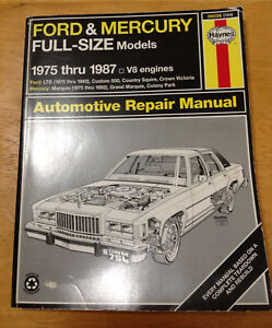 Haynes manual 75-87 Crown Vic