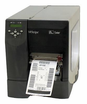 Zebra S4M S4M3N-2501-4100D Direct Thermal Barcode Print Parallel USB Peel Rewind comprar usado  Enviando para Brazil