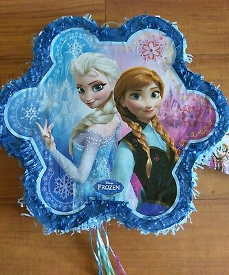 Disney Frozen Snowflake Anna and Elsa Party Pull String Pinata New