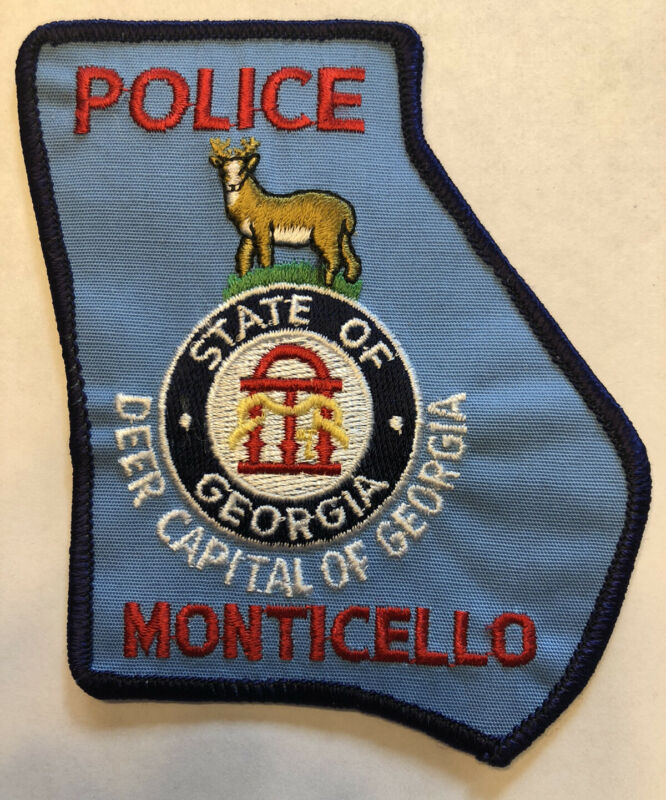 Monticello Georgia Police Patch ~ Deer Capital Of Georgia