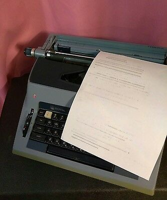 Royal Centurion Electric Typewriter With Hardshell Case Sp9000 Made In Japan