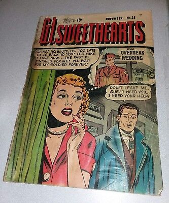 GI Sweethearts #35 quality comics 1953 Golden Age lot run romance War set movie