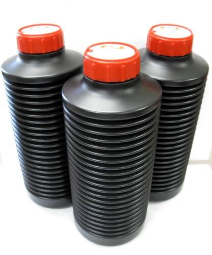 3 AP Air Reduction Air-Evac Darkroom Chemical Accordion Storage Bottles 1 Liter