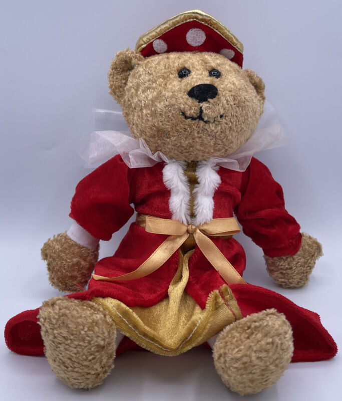 English Heritage Queen Teddy Bear With Red Dress And Crown~Queen~ FREE SHIP