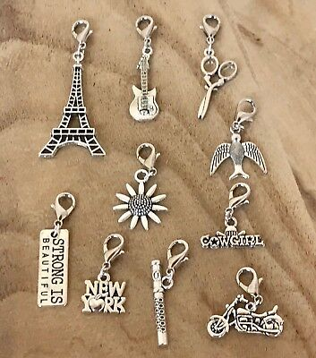 Eiffel Tower Dangle (Dangle Clip for Origami Owl Glass Floating Charm New York Cowgirl Eiffel)