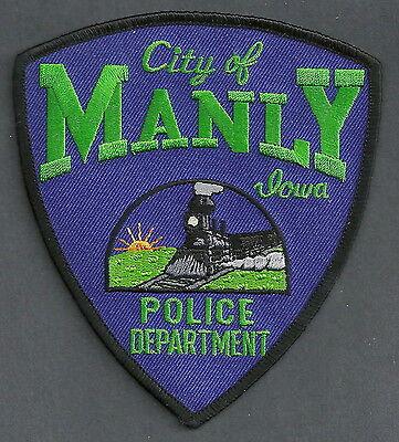 MANLY IOWA POLICE PATCH LOCOMOTIVE