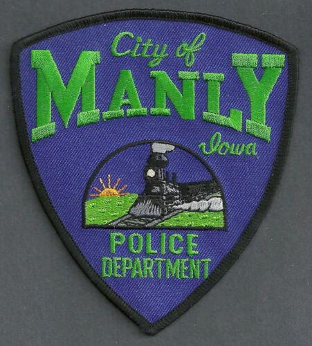 MANLY IOWA POLICE SHOULDER PATCH LOCOMOTIVE