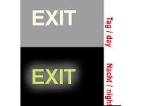 5 Aufkleber EXIT 20cm 5 Pfeil Sticker Ausgang Notausgang Fluchtweg Hinweis
