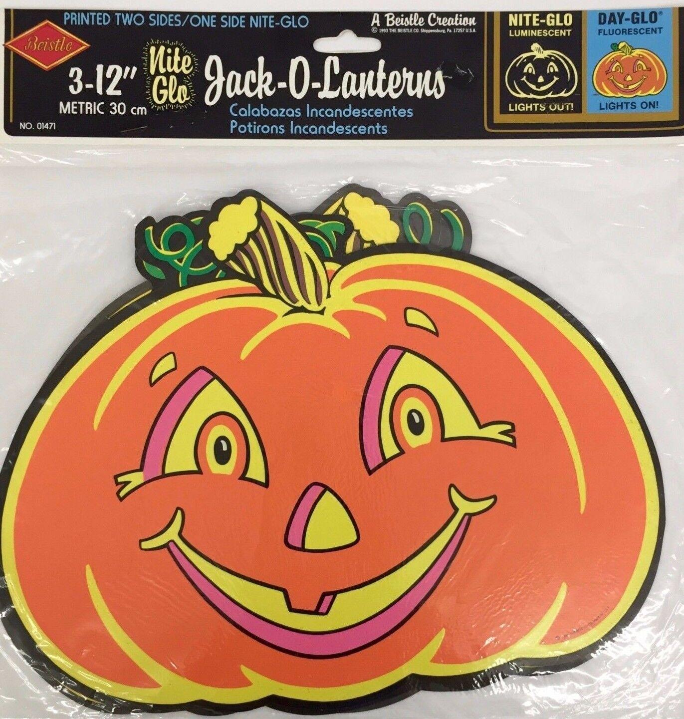 01471 nite glo jack o lanterns halloween