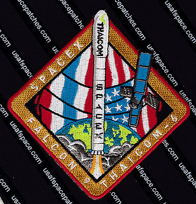 Thaicom 6   Authentic Spacex Falcon 9 Launch Ccafs Satellite Space Mission Patch