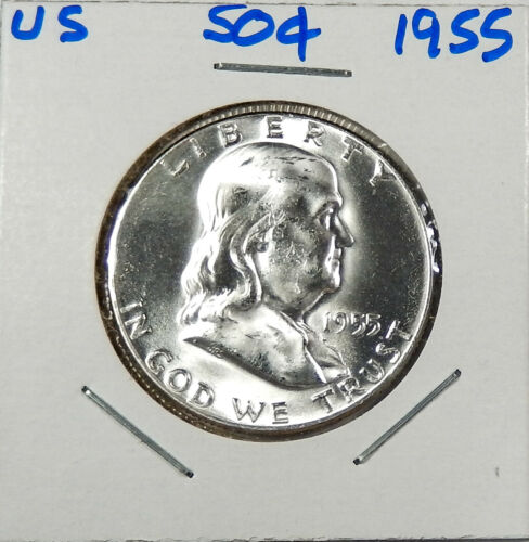 1955  Silver Franklin Half Dollar Uncirculated