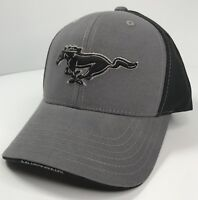 56d689db4ead7 New with tags Hat Cap Licensed Ford Mustang W  Pony Grill Emblem (Grey    Black) + Free shipping