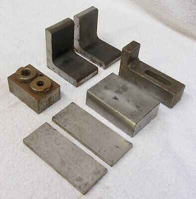 7 Machinist Metrology Gage Blocks Vtg Quality Inspection Spacer Fixture Tool Lab
