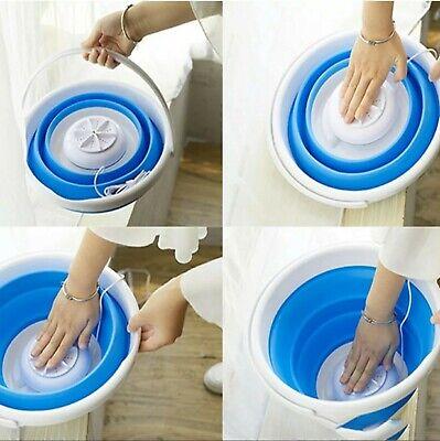 Portable Mini Laundry Washer Foldable Bucket Compact Washing Machine Dorm Travel