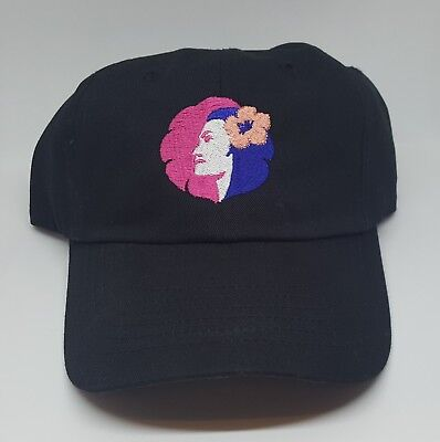 Hawaiian Airlines Hat Pualani  Embroidered Logo Black White Pink
