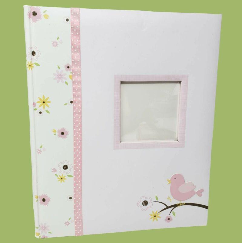 Lil Peach Birdie Baby Five Year Memory Book Photo Journal - Pink