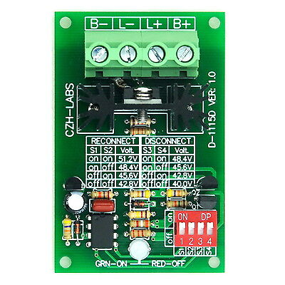 Low Voltage Disconnect Module LVD, 48V 30A, Protect/Prolong Battery Life.