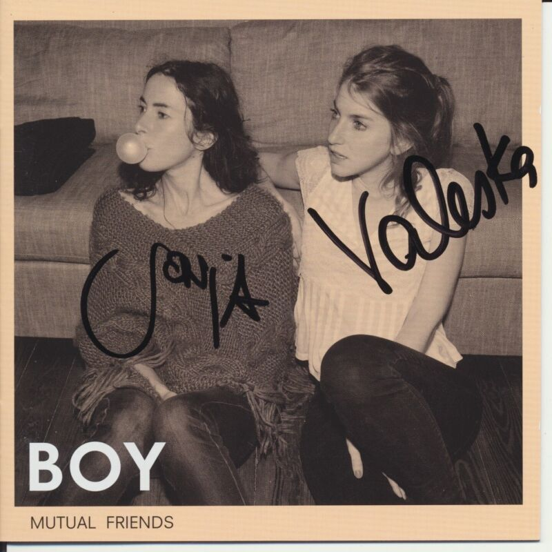 BOY DUO SIGNED MUTUAL FRIENDS CD COVER VALESKA STEINER & SONJA GLASS