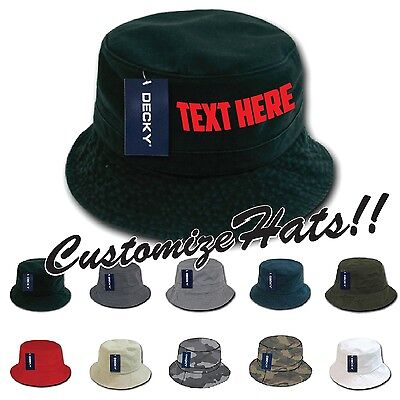 CUSTOM EMBROIDERY Personalized Customized Decky Fishermen's Polo Bucket Hat 961](Personalized Bucket Hats)