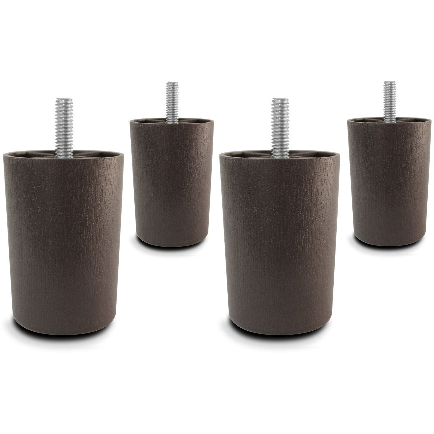 3″ Universal Brown Plastic Furniture Legs Sofa/Couch/Chair 5/16″ – Set of 4 Furniture