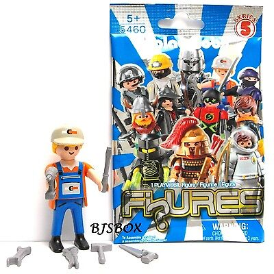 Playmobil 5460 Figure Fi?ures Single Builder Carpenter with Tools Rare New Toy