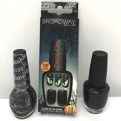 OPI Lincoln Park at Midnight Modern Family Halloween Press On Nails Glow Polish (Family Park Halloween)