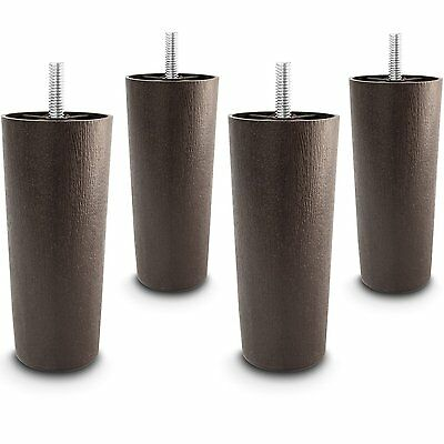 "5"" Universal Dark Brown Plastic Furniture Legs Sofa/Couch/Chair 5/16"" - Set of 4"