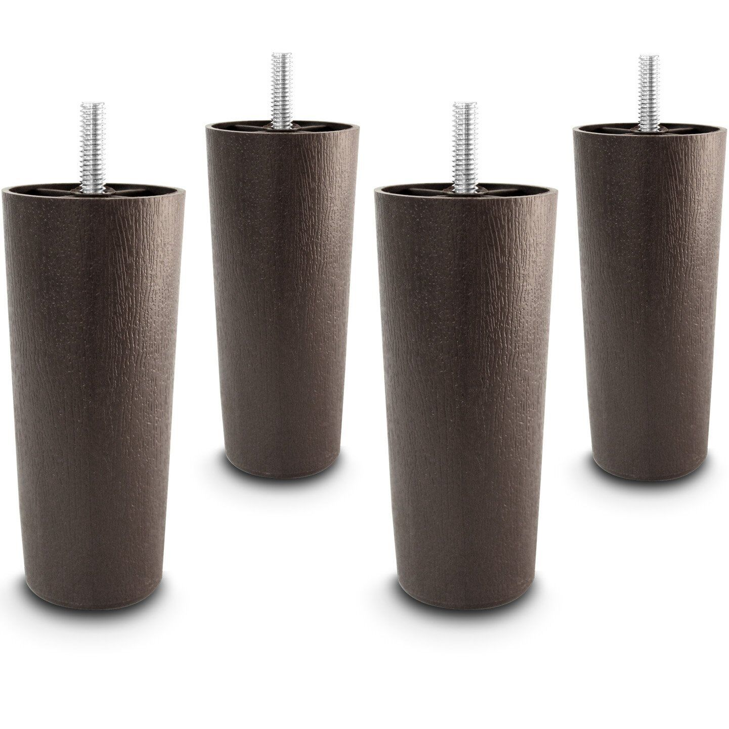 5″ Wood Bed Rail Furniture Round Edge Hook Zinc Metal Fasteners – 4 Bracket Sets Furniture
