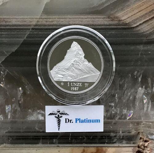 1987 Helvetia, Switzerland, PROOF, 1 oz 9995 Platinum Coin - DPPC5