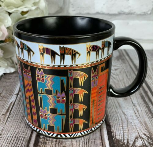 Vintage 1990 Laurel Burch Artifacts Egypticats Egyptian Cats Coffee Mug Tea Cup