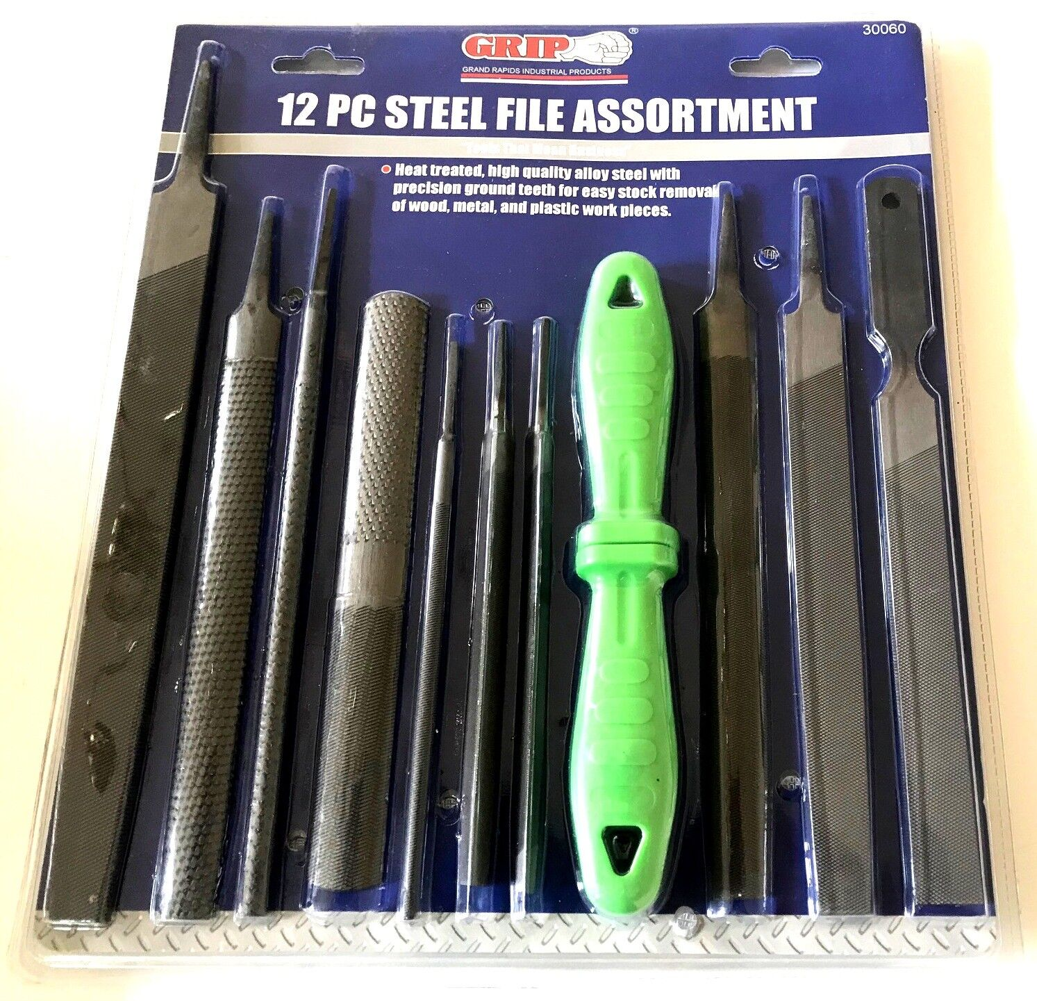 12pc GRIP TOOLS HEAVY DUTY STEEL FILE RASP AND BASTARD SET M