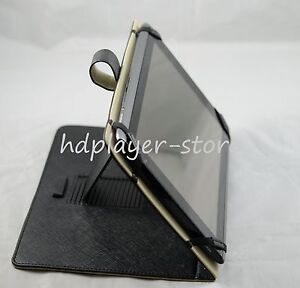 Black-Kickstand-PU-Leather-Case-For-10-1-Ematic-eGlide-XL2-eGlide-XL-Pro-II-Tab