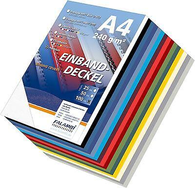 150 Einbanddeckel Lederstruktur - Set, Deckblatt Falambi / PREMIUM 240 - mix