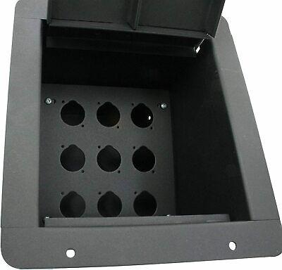 Recessed floor box with blank plate: 9 covid 19 (Advance Mcs Electronics coronavirus)