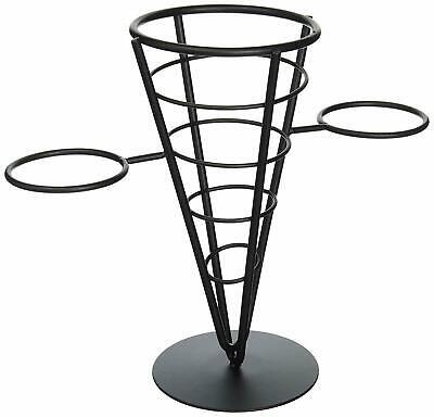 Winco Wbkh-5 Single Cone Black Wire French Fryer Holder